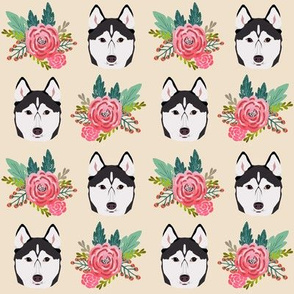 husky dog cute florals flowers husky owners will love this husky fabric