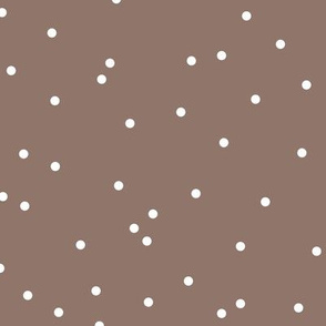 Colorful winter snow confetti fun little dots and circles spots flakes scandinavian