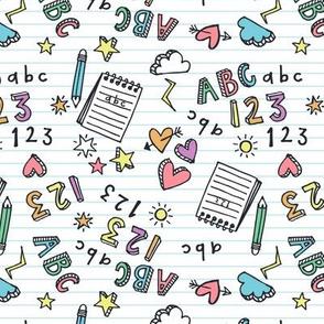 ABC 123 doodle