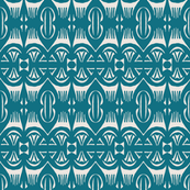 Tropical Drum Print - Indigo