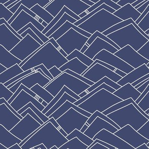 Abstract Mountains - Navy