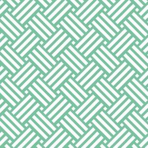 Geometric Basket Weave - Jade