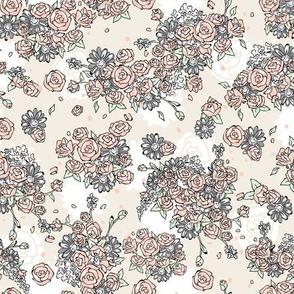 Delicate Floral - Cream