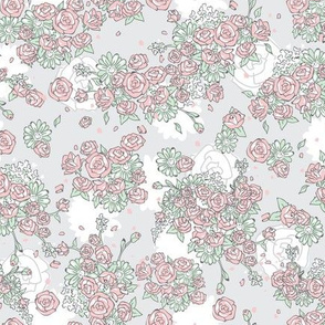 Delicate Floral - Mint and Blossom
