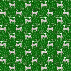 Christmas Reindeer on green