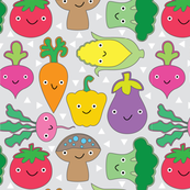 veggies-with-faces-on-grey
