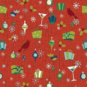 Retro Christmas - Red