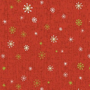 Retro Snowflakes - Red