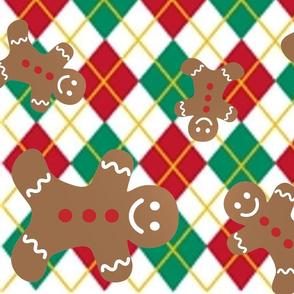 Argyle Gingerbread Men