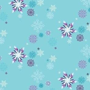 Frozen Snowflakes in Aqua