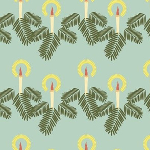 Retro Christmas Garland on Mint_Miss Chiff Designs