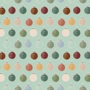 Muted color ornaments