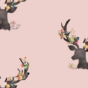 Autumn Deer in Dusty Muted Pink