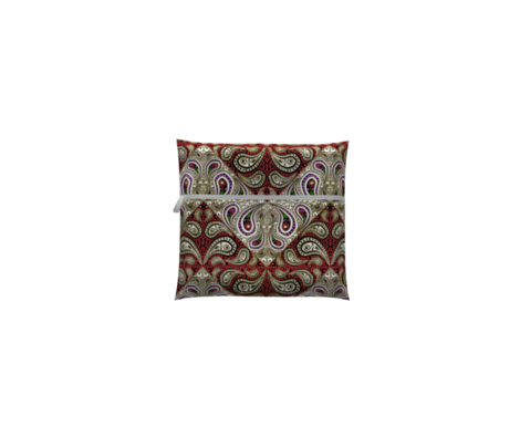 Red and Purple Paisley Chevron with Faux Gilt