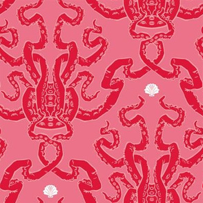 tentacle damask red