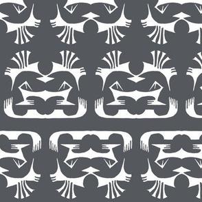 Island Tribal Print 2 Charcoal