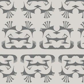 Island Tribal Print 2 Ivory & Shadow