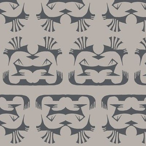 Island Tribal Print 2 Stone & Charcoal