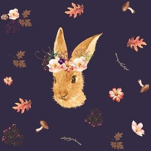 Autumn in the Woods  Bunny - Deep Purple