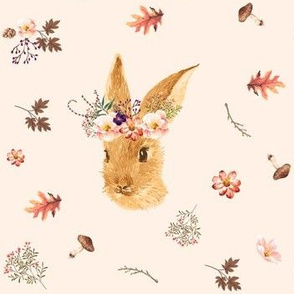 Autumn in the Woods Bunny - Ivory