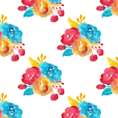 Watercolor Bright Southwestern Blooms