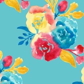 Bright Southwestern Bouquet in Light Blue