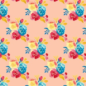 Bright Southwestern Bouquet  in Peachy Pink