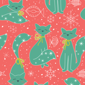 Meowy Christmas Cats