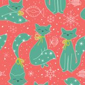 Meowy Christmas Cats