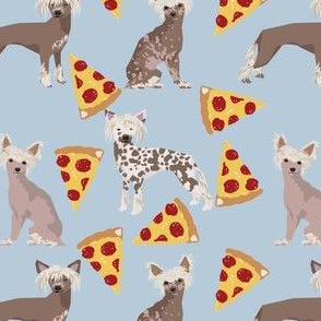 chinese crested dog hairless pizza cute food dog funny dog print sweet pet dogs