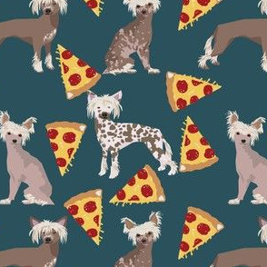 chinese crested dog hairless dog food pizza cute funny cute dog pizza food print for dog lovers