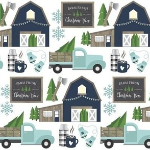 Vintage Christmas Tree Farm