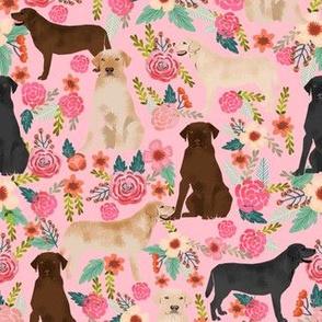 labrador pink florals cute labrador dog fabric yellow lab golden lab black lab chocolate labrador fabrics for cute dogs
