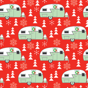 vintage christmas trailers