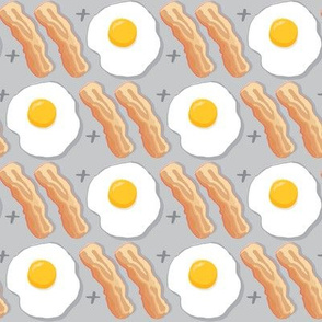 bacon-and-eggs on grey