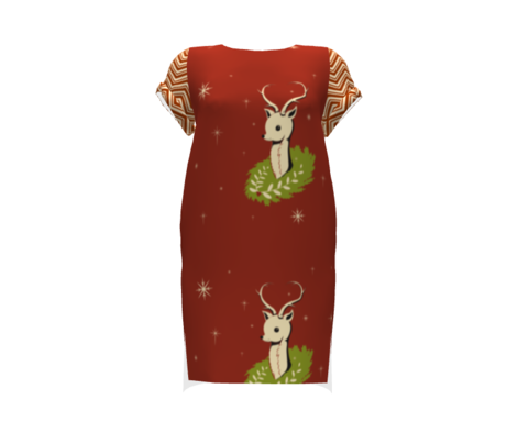 Reindeer fat quarter pillowtop