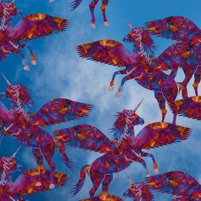 Melted Crayon Flying Unicorn