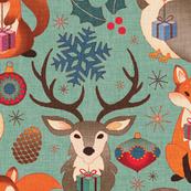 Vintage Xmas Ornaments & Animals