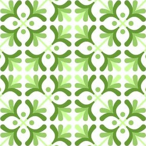 tile : hints of leaves