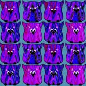 Cartoon Owls in Purple & Pink