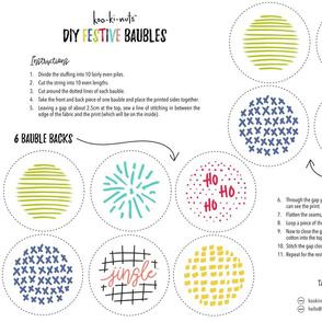 DIY Festive Ornaments Baubles
