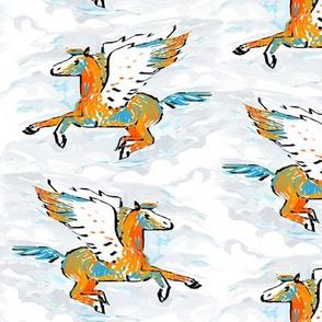 Orange and Blue Pegasus