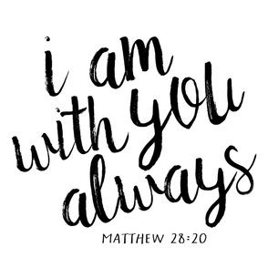 I am with you always || monochrome typography blanket