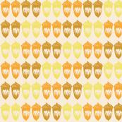 Acorns Small Double - Autumnal Yellow Mix