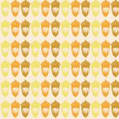 Acorns Small Stripe - Autumnal Yellow Mix
