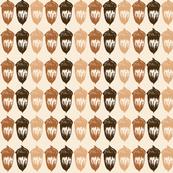 Acorns Small Stripe - Autumnal Brown Mix