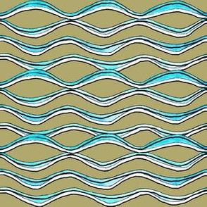 Wave Lines - beige