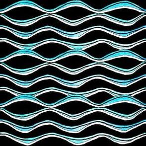 Wave Lines - black
