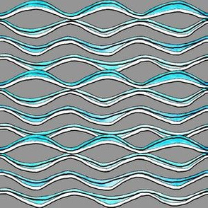 Wave Lines - Gray