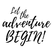 Let the Adventure Begin || Black and White Typography Quote Baby Blanket